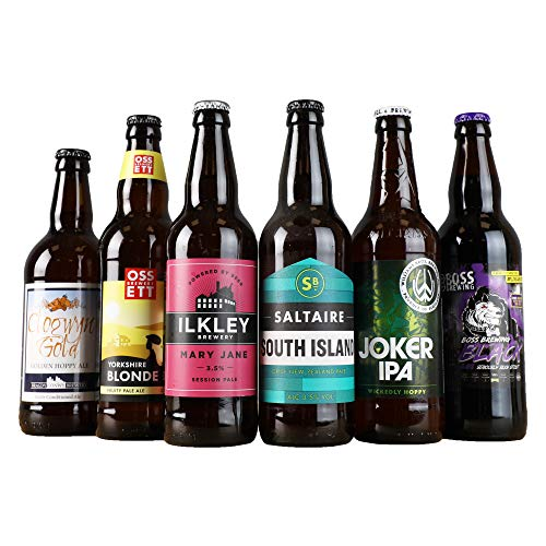 Beer Hawk Traditional Ales Selection, Case of 6 x 500ml Beers - Traditional Craft Ales Beer Gift Idea