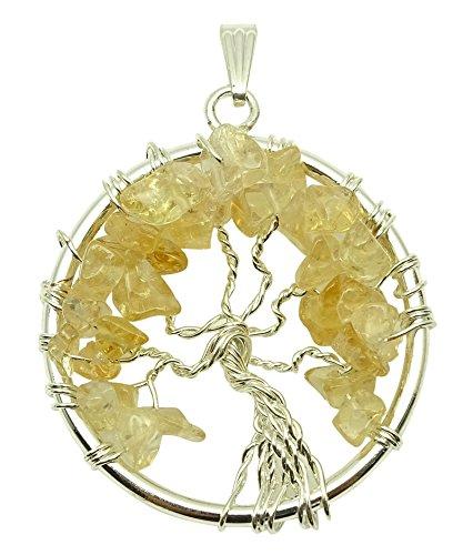 Harmonize Baum des Lebens Chakra Balancing Therapie Citrine Chips Anhänger Reiki Heilkristall spirituellen Geschenk