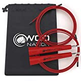 WOD Nation Speed Jump Rope - Blazing Fast Jumping Ropes - Endurance Workout for Boxing, MMA, Martial...