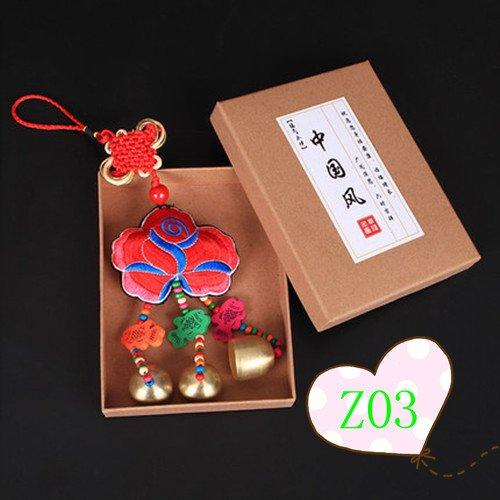 Infiniment Grand Centre de Home Decor Creative Gifts Chinois Nœud à Broder Wind Chimes à Suspendre Bell Sac à Dos Décoration de Voiture Cour Jardin Adorn, Z03
