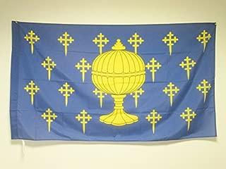 AZ FLAG Bandera del Reino DE Galicia 409-1833 90x60cm para Palo - Bandera GALLEGA Antigua 60 x 90 cm