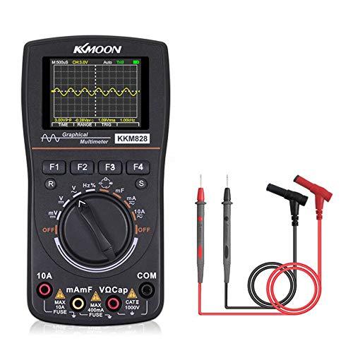 KKmoon Multimeter Oszilloskop 2 in 1 Aktualisierte Version 1 MHz, 2,5 Msps, Auto&Manull Range AC/DC-Spannung/Strom,Widerstand,Kapazität,Frequenz,Arbeitszyklus,Diodentest,Durchgangstest