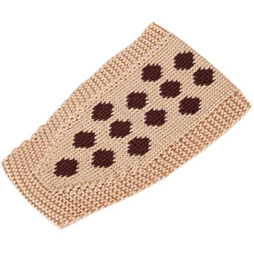 Hiver tricoté bandeau bandeau froissé tressé chaufferette, Kaki