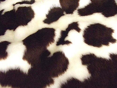 CRS Fur Fabrics Animal Fun Kunstfell Stoff Material–Braun Kuh