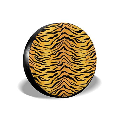 N\A Cubierta de neumático de Repuesto Universal Impermeable con Estampado de Cebra de Tigre Animal para Remolque, RV, camioneta, camioneta, Accesorios de Remolque de Viaje