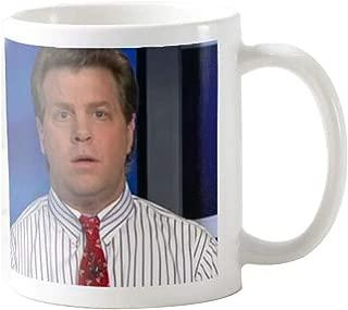 Gift for Journalist, Erik Wemple Commentator Coffee Mug, Tucker Carlson, Media Critic Coffee Tea Cup, Newspaper Office 11 Oz Ceramic White