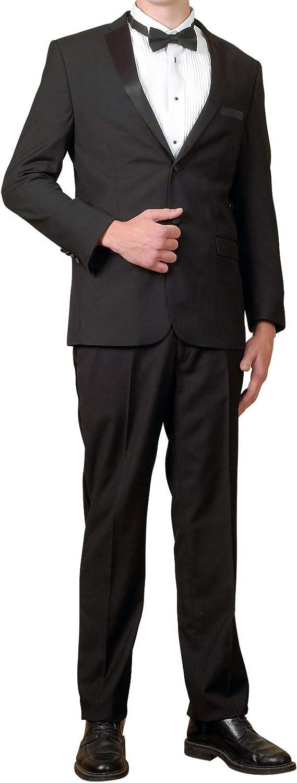 New Men's 1 Button Black Shawl Collar Tuxedo Suit