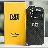 CAT S60 スマートフォン 現場仕様 3+32GB デュアルSIMスロット SIMフリー 4G LTE/FLIR 赤外線サーモグラフィ/米軍MIL規格 810G / 防水及び保護等級 IP68 / 5m 防水 / 1.8m 耐衝撃構造 [一年間の保証] [並行輸入品]