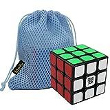Elloapic MoYu AoLong V2 Cube Speed Puzzle Cube Smooth Turning Cube Toy Magic Cube (Black) + One MoYu Cube Bag