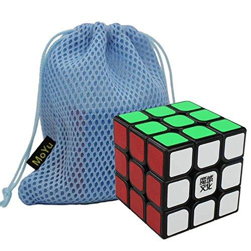 Nueva Moyu AoLong Cubo de la Velocidad del Rompecabezas del Cubo Suave Giro del Juguete del Cubo del Cubo mágico (Negro) + un Cubo Moyu Bolsa