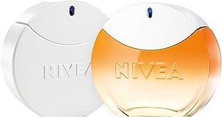 NIVEA Eau de Toilette Fragancias de mujer 2 x 30 ml set de perfumes con NIVEA SUN EdT con el aroma original del protecto...