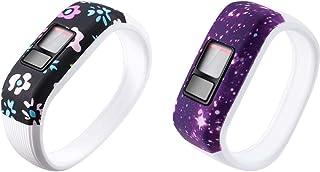 Gransho Correa de Reloj Compatible con Garmin Vivofit JR/Vivofit JR2 / Vivofit 3, Silicona Correa Reloj con Acero Inoxidab...