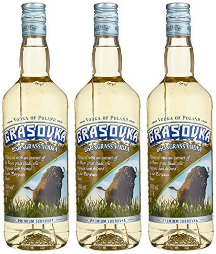 Grasovka Bisongrass Vodka 38%, 3er Pack (3 x 0.7 l)