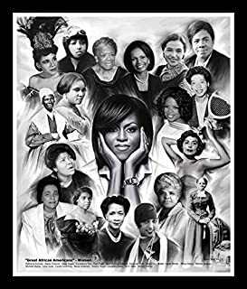 Great African American Women by Wishum Gregory (11x8.5 inches - Black Frame)