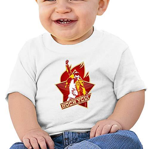 Baby Freddie-Mercury 2 Basic Short Sleeve Shirt,SOFE,Cotton,Memorial Gift White 18M