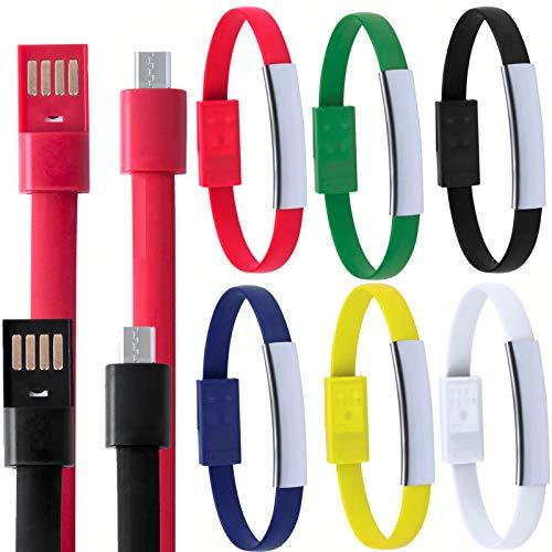 Lote de 20 Pulsera Micro USB Datos para Cargar Teléfonos