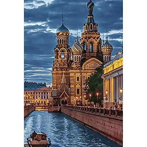 Pittura Di Paesaggio Della Città Russa Puzzle 200 Pezzi Giocattoli Educativi Fai-Da-Te Regalo Decorazioni Per La Casa Materiali Di Alta Qualità Giocattoli Per Decompressione