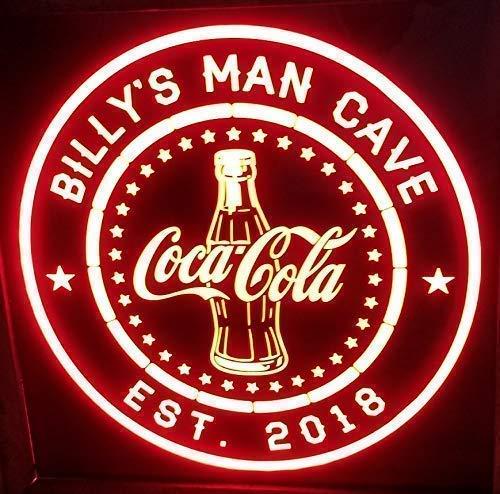 Custom Coke Coca Cola Lighted cheap light Led Sign online shopping