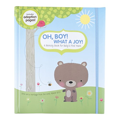 DaySpring Inspirational Memory Book with Momento Pockets, Forest Friends Collection, Boy
