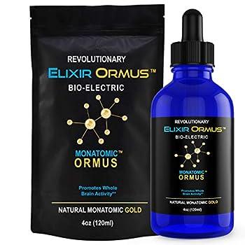 Elixir ORMUS - 4oz - Monoatomic Gold - Manna Memory AID Energetically Monatomic White Powder Gold Increased Energy Stamina Vitality - Gold Platinum Iridium