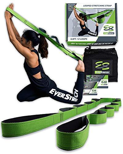 EverStretch Stretching Strap with Loops - non si allunga - non elastico - Muoviti liberamente con questa fascia Premium Loop Strap Stretch – Yoga, fisioterapia, ginnastica e altro ancora