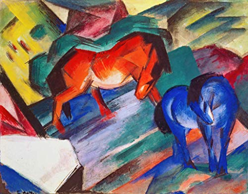 Kunst für Alle Impresión artística/Póster: Franz Marc Rotes und blaues Pferd - Impresión, Foto, póster artístico, 70x55 cm