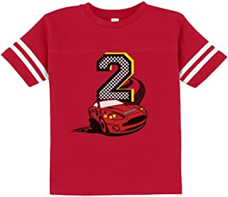 TeeStars - 2nd Birthday Race Car Party 2 Year Old Boy Toddler Jersey T-Shirt