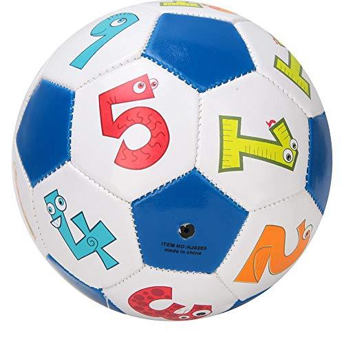 Jimdary Fútbol de Entrenamiento Estable de PU, fútbol de niños de estanqueidad, para niños(Number Ball)