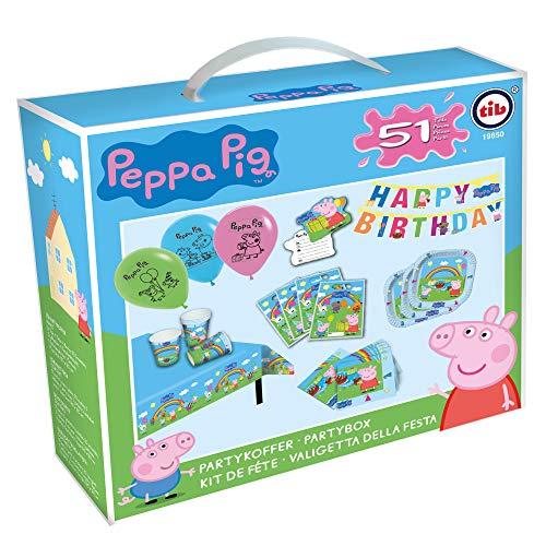 Tib Heyne 19850 Partykoffer Peppa Pig, meerkleurig