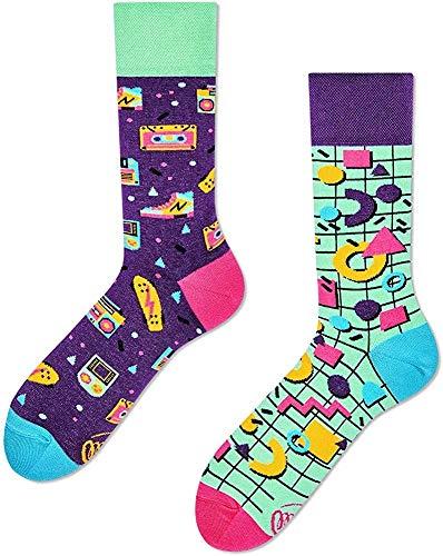 Many Mornings - mismatched Socken - Back to The 90's - 90er Jahre (43-46)