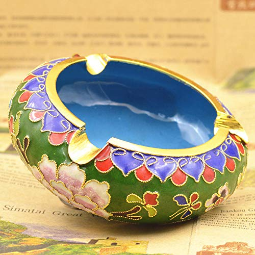 Ceramic ashtray large windproof ashtray office home creative personality-Four inch green