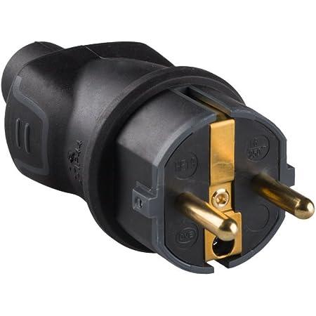 legrand 050196 Enchufe para Uso Profesional, 3680 W, 230 V, Negro