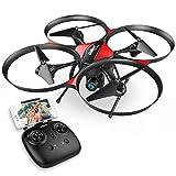 DROCON Drone Helicoptère télécommandé U818PLUS caméra HD...