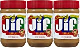 Jif Simply Creamy Peanut Butter, 15.5 oz, 3 Pack