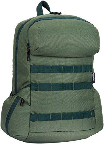 AmazonBasics - Rucksack aus Canvas für Laptops bis 15 Zoll / 38 cm, Waldgrün