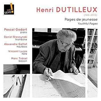Dutilleux: Youthful Pages