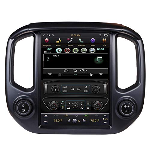 CARSOLL Compatible with 2015-2018 Chevrolet Colorado GMC Canyon Android PX6 4GB RAM 12.1' Tesla-Style Vertical Screen Navigation Radio Screen Display Stereo (for OEM 7' Screen (IOB), Black Bezel)
