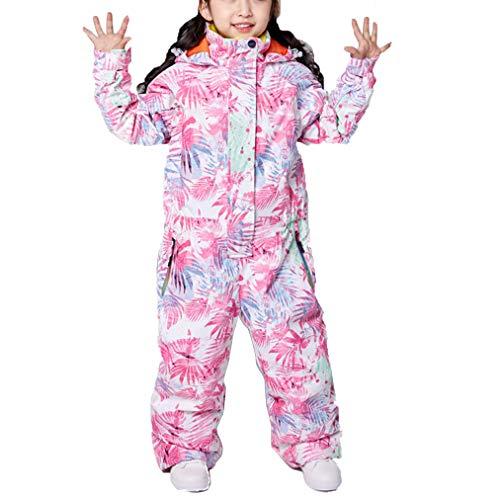 Ski-romper voor kinderen, waterdicht en winddicht, voor meisjes, jumpsuit, ski-jack, thermische broek, sneeuwkleding, geschikt voor snowboarden, bergbeklimmen