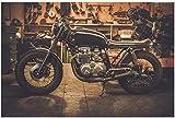 Fototapete 3D Effekt Vlies Design Tapete Bilder Wandbild Modern Dekoration Retro Motorrad Harley...