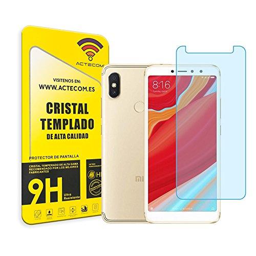 actecom® Protector Pantalla para XIAOMI REDMI S2 Cristal Vidrio Templado