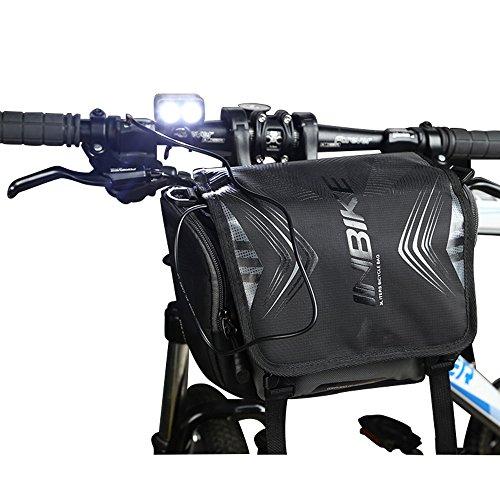 Extrbici Bici Tubo Anteriore da Bicicletta Manubrio da MTB Mountain Road Bike Front Top Tube Pannier con sgancio rapido Staffa, Grande portaoggetti Impermeabile Ciclismo Borsa a Tracolla