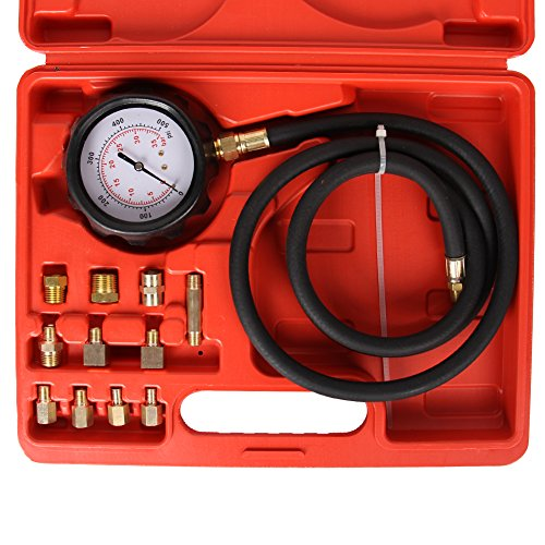 Best Buy! Bang4buck 8 Pieces Engine Compression Gauge Test Set Cylinder Diagostic Tool Kit 0-300 PSI...