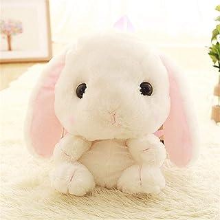 Sosa Mochila de Conejo de Felpa Linda Mochila Japonesa de Conejito Kawaii Juguete de Conejo de Peluche Bolsa de Escuela para niños Regalo Juguete Lindo para niña, Blanco, 31cm-50cm