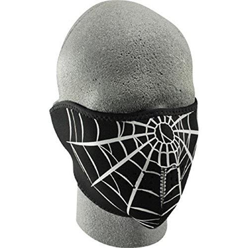 Zan Headgear Spider Men's Neoprene Half Face Mask On-Road Racing Motorcycle Helmet Accessories - One Size Fits All