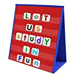 VNOM Small Pocket Chart Table Top Double Sided Sentence Strips Pocket Chart Foldable & Sel...