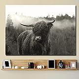 KWzEQ Leinwanddrucke Highland Cattle Wandkunst dekorative Bild Wohnkultur Wohnzimmer Sofa...