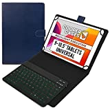 Cooper Backlight Executive Keyboard Case for 9, 9.7, 10, 10.1, 10.2, 10.5' Tablets   Bluetooth Keyboard & Leather Folio, 7 Color Backlit with Hotkeys