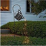 Star Shower Garden Art Light Dekoration,Silber Wire Vine Garten Dekoration Wegeleuchten,Sterne zeigen Led String Dekoration Lichter für den Garten Rasen Terrasse Feld Weg Mit Halterung