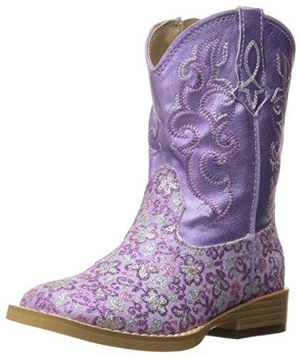 ROPER Girls Lavender Western Boot, Purple, 8 Toddler