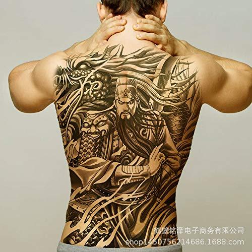tzxdbh 2 Stück-Neu [91 Modelle] Tattoo-Aufkleber mit vollem Rücken, wasserdicht und dauerhaft Phoenix Kowloon Lama mit vollem Rücken Nummer 57